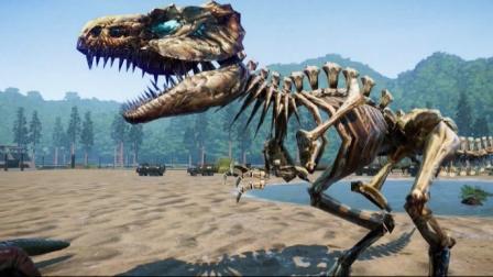 恐龙:一起来研究恐龙的骨架吧,用骨架模拟恐龙战斗