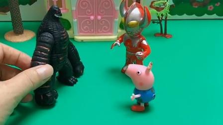 乔治来找奥特曼,乔治还说有怪兽,奥特曼打倒了怪兽