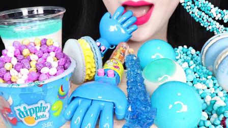 流行的蓝色,和零食融合一起,是否感到惊艳?