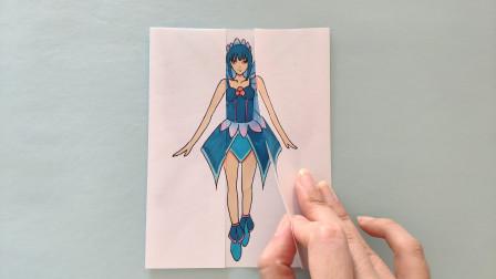 如何用一张纸画陈思思变身蝴蝶仙子,手绘精灵梦叶罗丽翻开太美了
