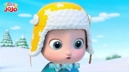 超级宝贝JOJO:宝宝们一起堆雪人,堆雪人大比拼谁会赢