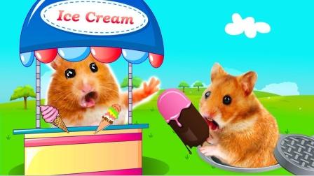 爱玩的仓鼠:仓鼠冰淇淋店抢劫计划,仓鼠会然后逃脱!