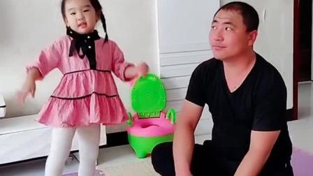 萌娃:妹妹又和爸爸跳舞了