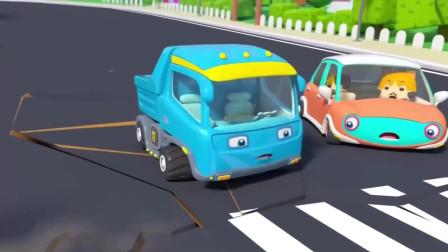 小车们遇到危机了,城市英雄吊车快来帮帮忙呼叫吊车!