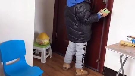 搞笑童年:陌生人敲门 小萌娃千万别开