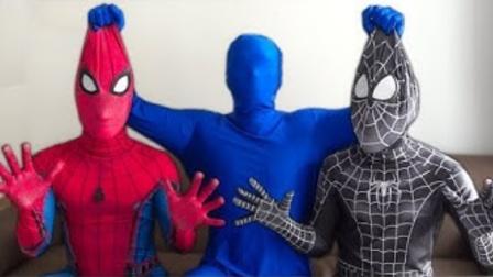 蜘蛛侠真人:小黑蜘蛛侠被控制,是小蓝人