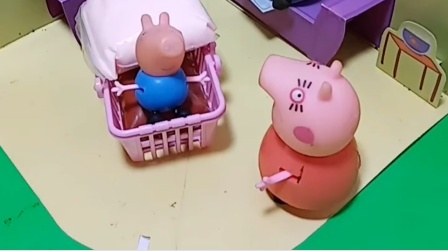 猪妈妈让猪爸爸看孩子,猪爸爸还困了,猪爸爸就去睡觉了