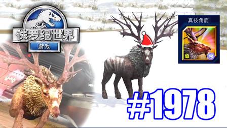 小鸢解说 侏罗纪世界1978真枝角鹿满级进化,确定不是来给圣诞公公拉车么?