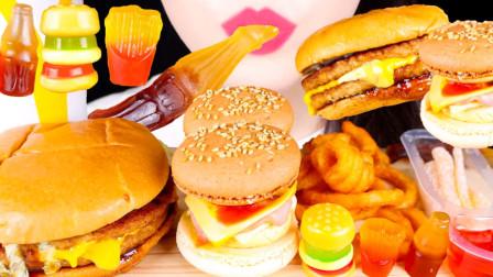 流行的汉堡马卡龙,口感丰富,造型也很新奇