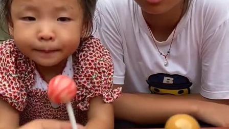 童年趣事:哇,草莓味的棒棒糖