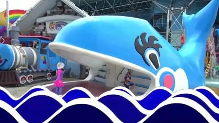 萌宝小可爱:萌娃去水上乐园,好开心呀