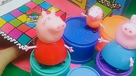 小猪一家被关在衣柜里了,快来救他们,乔治关哪儿了呢