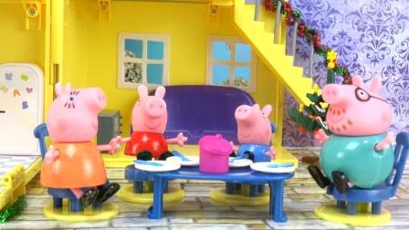 小猪佩奇新年礼物玩具,粉红猪小妹和乔治会受到什么礼物呢?