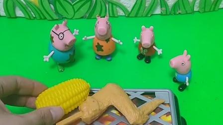 小猪一家要吃烧烤,但是它们怎么都不吃肉