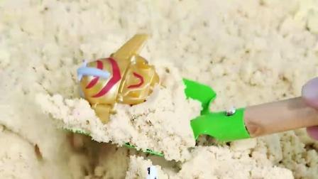 小铲子沙地寻宝 超级飞侠金小子变形玩具