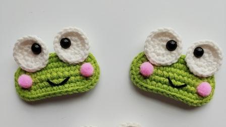 手工编织毛线发夹儿童动物青蛙发夹编织教程