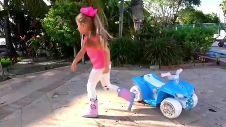 萌宝小可爱:小萝莉要买一辆车,但是车子好贵呀