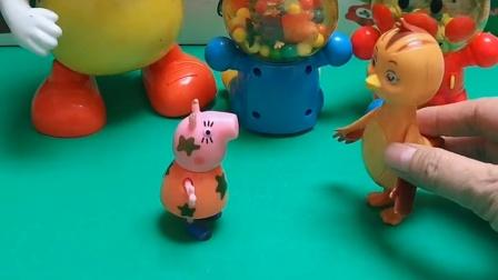 鸡妈妈来逛街了,鸡妈妈还看见了乔治,鸡妈妈还叫来了猪妈妈