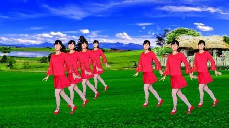 优美广场舞《红姑娘》歌声优美醉人,简单好看又好学