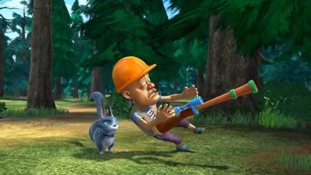 熊出没:大家玩儿的好好的,这个时候李老板催砍树,真是大煞风景