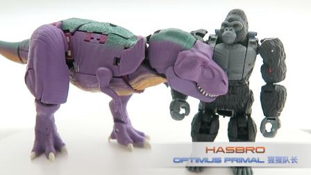 小不高兴和他的变形金刚们——猩猩队长 王国系列 超能勇士 Kingdom BW Optimus Primal