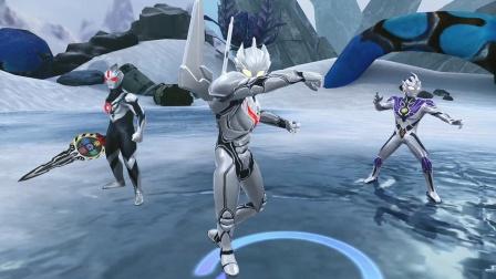 奥特曼宇宙英雄,诺亚奥特曼打败了哥莫拉和金古桥