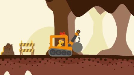 恐龙挖掘机:让我们寻找各种宝藏吧