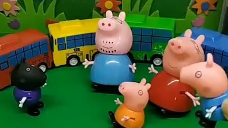 小猪一家想坐小火车,可是他们需要变小,小朋友快来看看