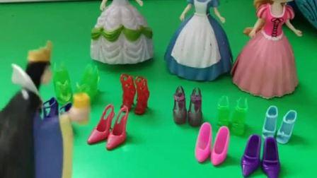 王后新买的高跟鞋不见了,王后怀疑是公主穿走了,是哪位公主穿的呢