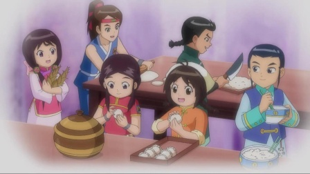 甜心格格:丝丝和众合作,制作出的饺子,结果得到皇上的赞赏!