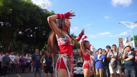 街拍展会广场舞,庆典热舞表演