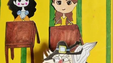 白雪公主小猪佩奇奥特曼童年画画