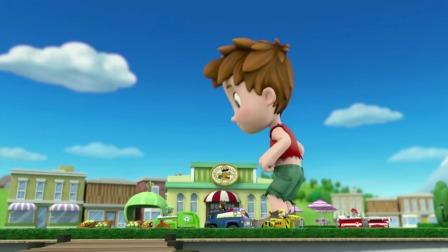 汪汪队:雅丽太无聊了,抱着火车当玩具,拿在手里转圈