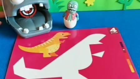 小僵尸不会拼拼图,大头僵尸让佩奇帮忙拼拼图,小朋友们觉得佩奇拼的对吗