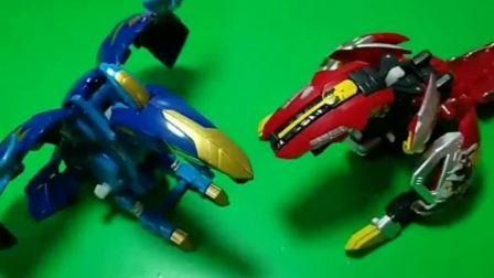 恐龙变形蛋打起架来了,他们都变回来了原形,这可怎么办呢