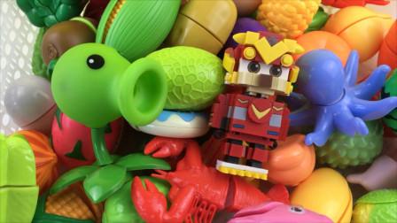 植物大战僵尸和星原小宝一起来切水果