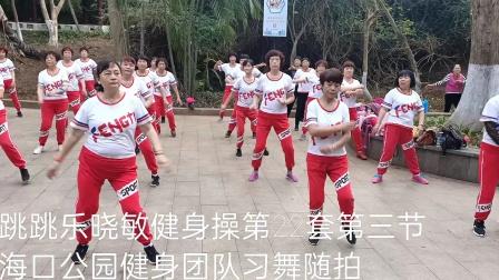 邵东跳跳乐第22套第三节海口公园健身团队晨练随拍