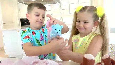 萌宝小可爱:萌娃用糖果做的捧花好漂亮呀