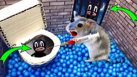 卡通猫小怪你别嘚瑟,看我小仓鼠给你来一针