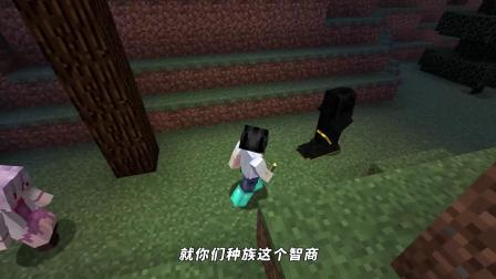 MC我的世界:泥土村长使出必杀技!用摔落保护鞋保护阿阳