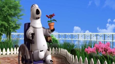 搞笑动漫:倒霉熊掉到了一个满是花朵的地方