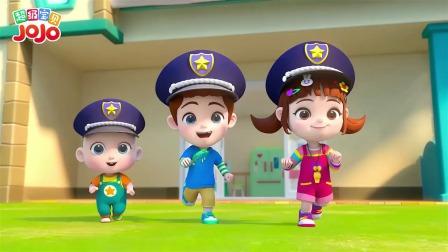 超级宝贝jojo:小警察对宠物狗现场说教啦哈哈哈