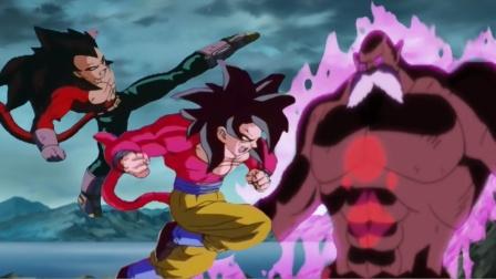同人动画,超4空贝乱入龙珠超世界,破坏神托破大显神威