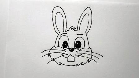 简笔画小动物,画一只大白兔,和你比起来哪个画得更好?
