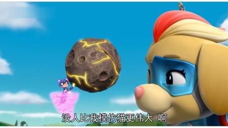 汪汪队:模仿猫抢走超能陨石,看狗狗们如何教训它!