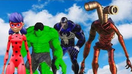 真人特效恶搞:超级英雄和怪物们的战斗