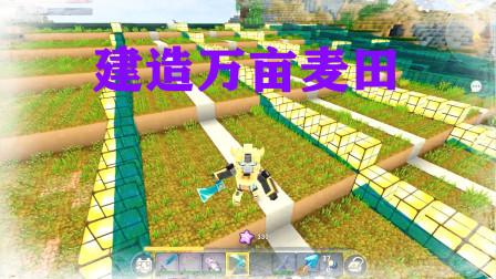 迷你世界:狂人生存07为了挣钱,小林老师竟然成为了一万亩小麦地的地主
