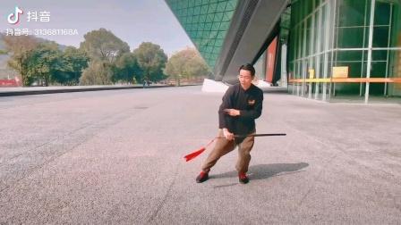 陈氏49式太极剑节选动作。