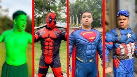 真人特效恶搞:变身超级英雄维护正义与世界和平