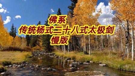 佛系   传统杨式二十八式太极剑  慢版